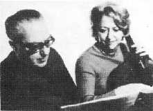 Ginastera and his wife, Aurora